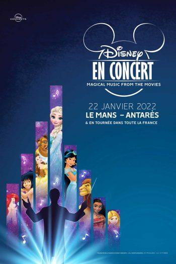 Affiche Disney en concert spectacle enfants famille Antarès Le Mans