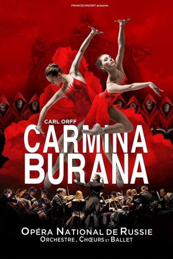 Affiche Carmina Burana spectacle opéra national de russie danse ballet Antarès Le Mans