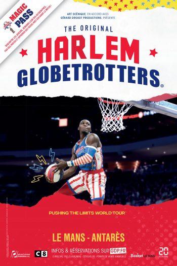 Affiche Harlem Globetrotters spectacle Antarès Le Mans