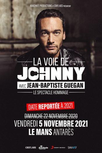 Affiche Jean-Baptiste Guegan La voie de Johnny concert Antarès Le Mans