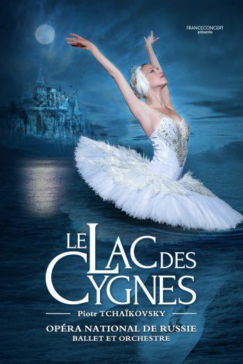 Affiche Le Lac des Cygnes ballet danse opéra national de russie Antarès Le Mans