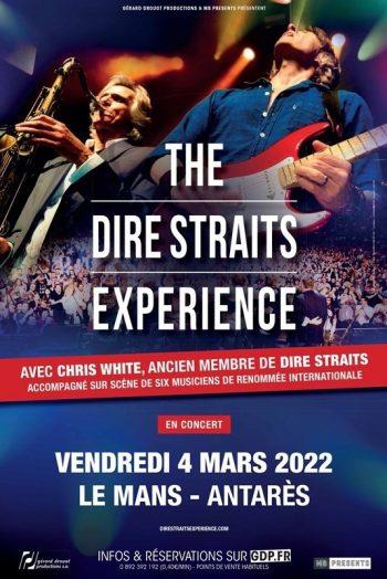 Affiche The Dire Straits Experience concert Antarès Le Mans