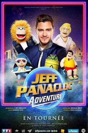 Affiche Jeff Panacloc tournée humour marionnette Reprise des événements & pass sanitaire Antarès Le Mans